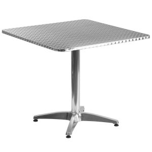 31.5'' Square Aluminum Indoor-Outdoor Table with Base