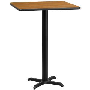 30'' Square Laminate Table Top with 22'' x 22'' Bar Height Base