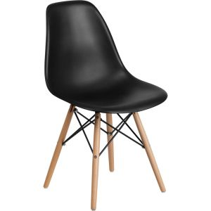 Elon Series Plastic Chair with Wooden Legs