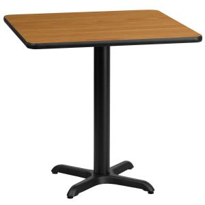 30'' Square Laminate Table Top with 22'' x 22'' Table Height Base