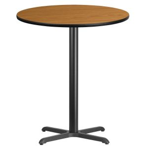 36'' Round Laminate Table Top with 30'' x 30'' Bar Height Base