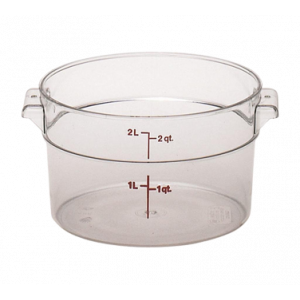 Cambro RFSCW2135 Camwear 2 Qt. Round Storage Container - Clear