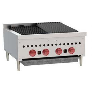 Wolf SCB25 25-1/4 in Gas Charbroiler, 4 Burners, Manual Controls