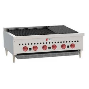Wolf SCB36 36-1/8 in Gas Charbroiler, 6 Burners, Manual Controls