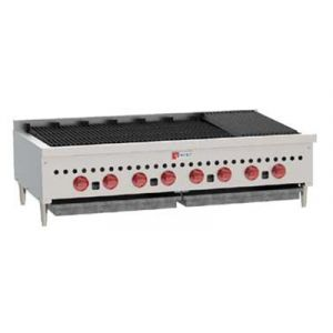 Wolf SCB47 46-3/4 in Gas Charbroiler, 8 Burners, Manual Controls