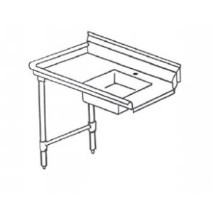 "Klingers SDT-60L Dishtable left-to-right operation, 60""W x 30""D"