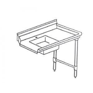 "Klingers SDT-48R Soiled Dishtable, right-to-left operation, 48""W x 30""D"