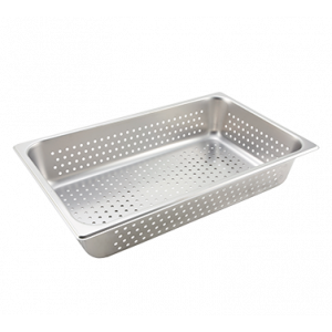 "Winco SPFP4 Perforated Steam Table Pan, Full Size, 4"" Deep - Stainless Steel"