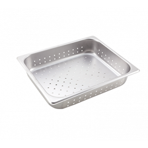 "Winco SPHP2 Perforated Steam Table Pan, Half Size, 2-1/2"" Deep - Stainless Steel"