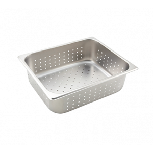 "Winco SPHP4 Perforated Steam Table Pan, Half Size, 4"" Deep - Stainless Steel"