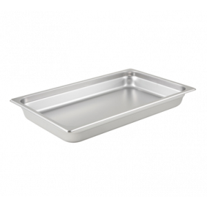 "Winco SPJL-102 Steam Table Pan, Full Size, 2-1/2"" Deep - Stainless Steel"