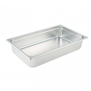 "Winco SPJL-104 Steam Table Pan, Full Size, 4"" Deep - Stainless Steel"