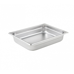 "Winco SPJL-202 Steam Table Pan, Half Size, 2-1/2"" Deep - Stainless Steel"