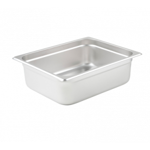 "Winco SPJL-204 Steam Table Pan, Half Size, 4"" Deep - Stainless Steel"