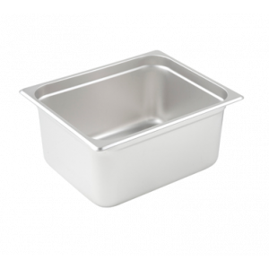 "Winco SPJL-206 Steam Table Pan, Half Size, 6"" Deep - Stainless Steel"