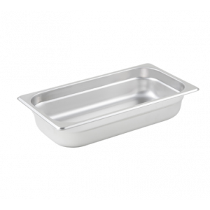 "Winco SPJL-302 Steam Table Pan, 1/3 Size, 2-1/2"" Deep - Stainless Steel"