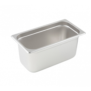 "Winco SPJL-306 Steam Table Pan, 1/3 Size, 6"" Deep - Stainless Steel"