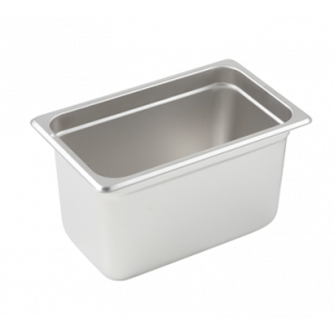 "Winco SPJL-406 Steam Table Pan, 1/4 Size, 6"" Deep - Stainless Steel"