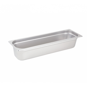"Winco SPJL-4HL Steam Table Pan, Half Long Size, 4"" Deep - Stainless Steel"