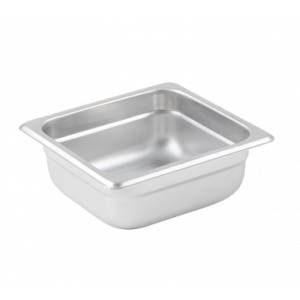 "Winco SPJL-602 Steam Table Pan, 1/6 Size, 2-1/2"" Deep - Stainless Steel"