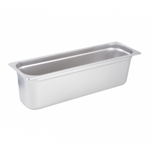 "Winco SPJL-6HL Steam Table Pan, Half Long Size, 6"" Deep - Stainless Steel"