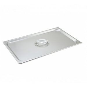 Winco SPSCF Solid Steam Table Pan Cover w/ Handle, Full Size - Stainless Steel