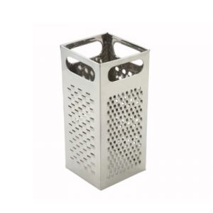 "Winco SQG-4 Box Grater, 9"" x 4"" - Stainless Steel"