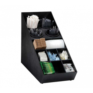 Dispense-Rite SWCH-1BT Silverware & Condiment Countertop Organizer