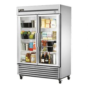 True T-49G-HC Two-Section Glass Door Reach-In Refrigerator
