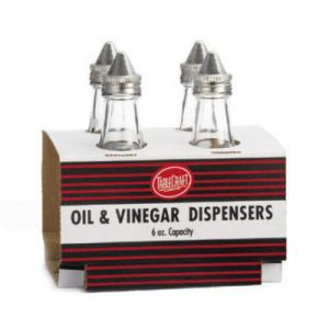 Tablecraft C600-4 Cash & Carry Oil & Vinegar Dispensers, 6 OZ (4 SET)