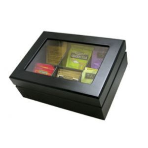 Update TBC-6BK Tea Box Matte finish, wood, black