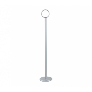 "Winco TBH-8 8"" Table Number Holder - Stainless Steel"