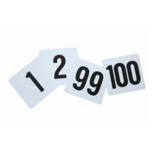 "Winco TBN-100 Table Numbers Set for 1-100, 4"" x 3-3/4"""