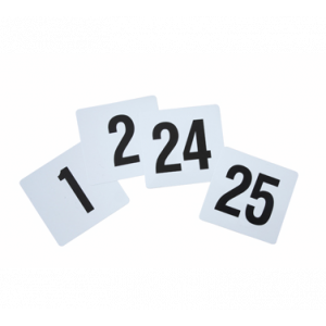 "Winco TBN-25 Table Numbers Set for 1-25, 4"" x 3-3/4"""