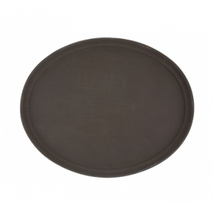 "Winco TFG-2622N Deluxe Oval Serving Tray, 26"" x 22"" - Brown"