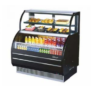 "Turbo Air TOM-W-60SB-N 62-5/8"" Open Display Merchandiser w/ Refrigerated Top Shelf Case"