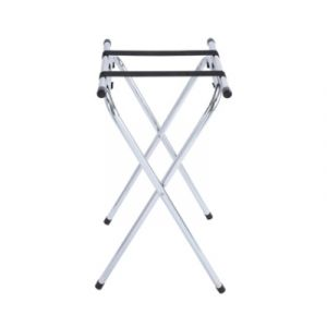 "Winco TSY-1A 31"" Tray Stand w/ Bar - Chrome"