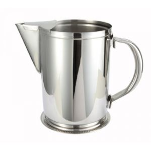 Winco WPG-64 64-Oz. Water Pitcher w/ Guard - Stainless Steel